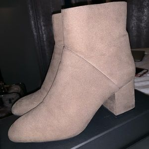 Zara suede grey booties
